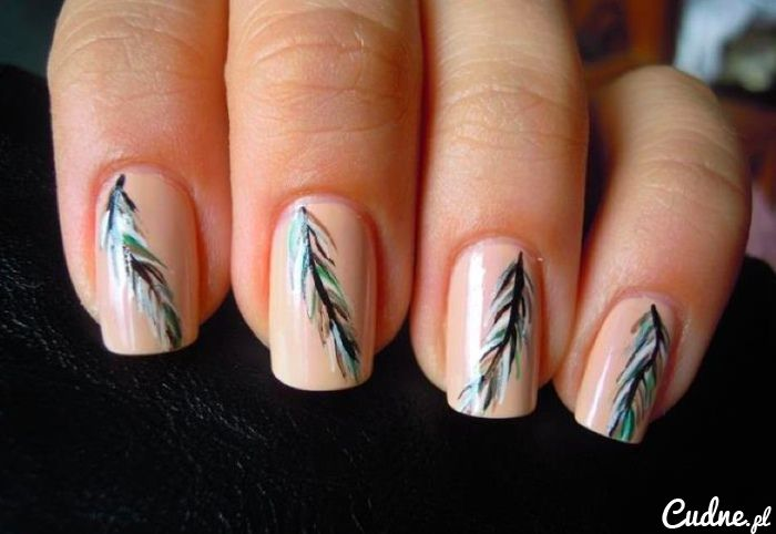 peacock nails - perfect shape
