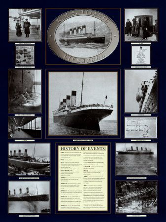 Titanic Poster  Art Print  by Father Francis Browne