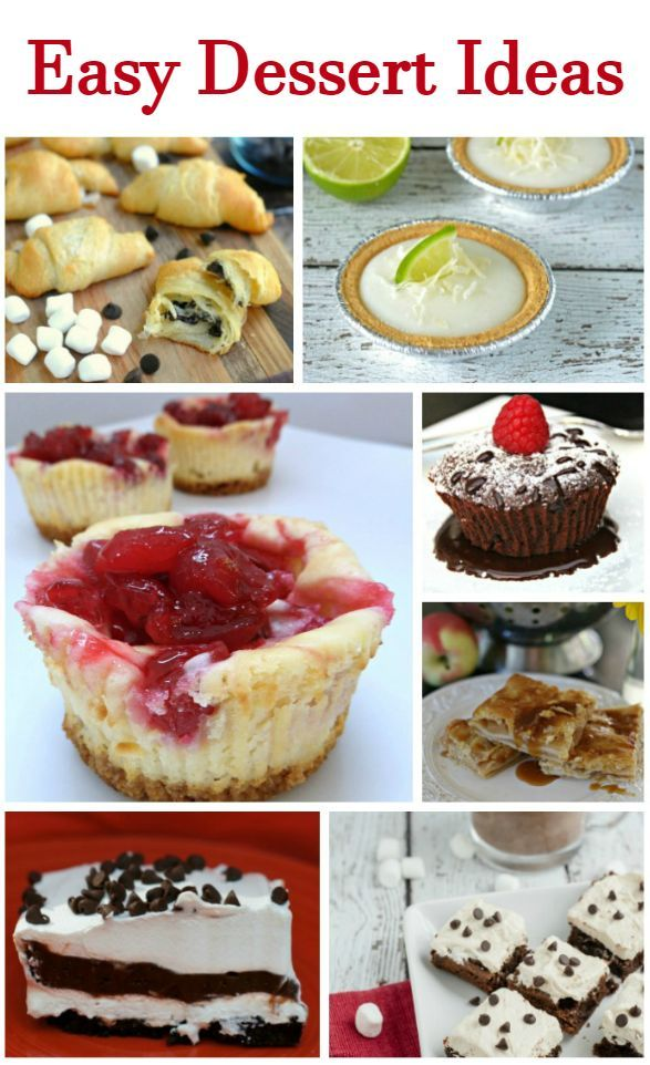 Here are some quick easy dessert recipes that I have gathered for when you want to treat your guests to something special without a lot of time.