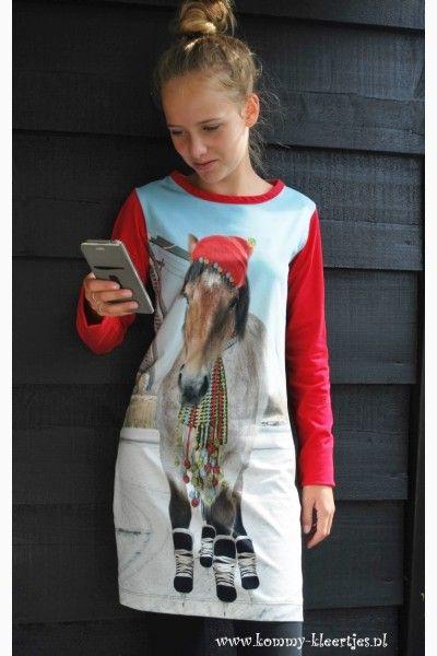 Meisjesjurk Paard #jurkje #paard #meisjesjurk #meisjeskleding #handgemaakt #paardenmeisje #mooi #exclusief