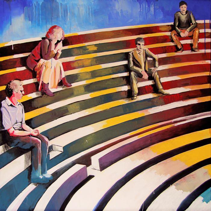 GaeTano and Valentina, OFFICINA DI FAUST, © 2013, acrylic on canvas, 100 x 100 cm.  #pittura #art #painting #arts #GaeTanoAndValentina #AcrylicOnCanvas #scenographTwoArt #SCENOGRAPH2ART #GaeTanoeValentina #visualart #canvas #sem #acrylic #peinture #ceruleo #dipinti #monza #italy