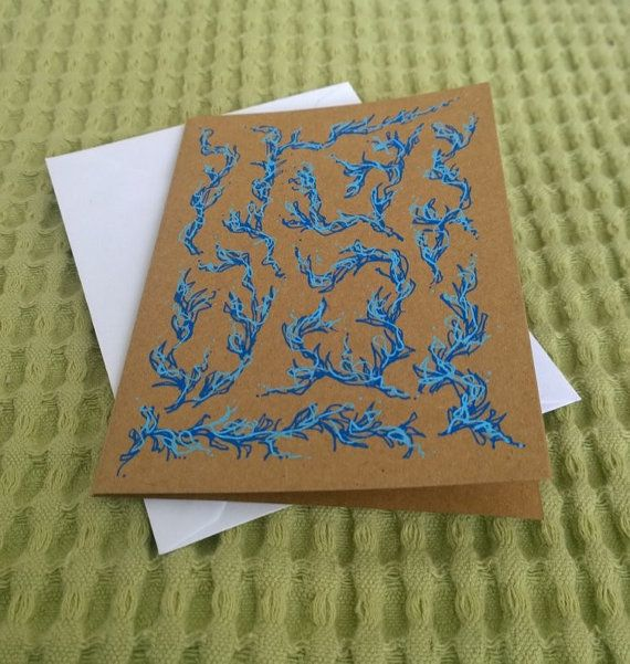 Original Acrylic Paint Pen Abstract Art Greeting by ScubaTurkey