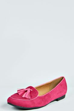 Lia Tassel Detail Ballet Pump at boohoo.com