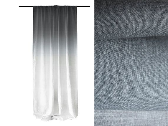 Hey, I found this really awesome Etsy listing at https://www.etsy.com/listing/211248145/window-curtain-ombre-grey-fade-to-white