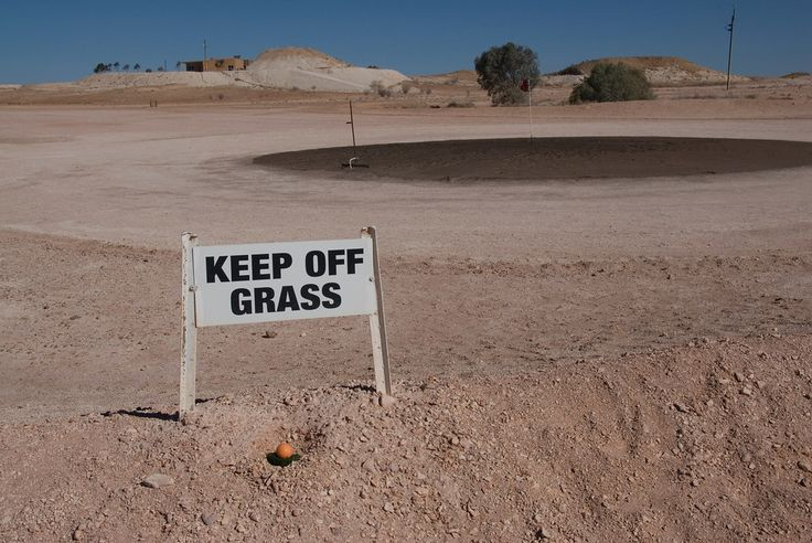 18 hole golf course in Coober Pedy, Australia