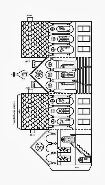 Educar X: Molde de igreja para maquete