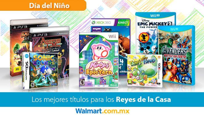 Llévate los mejores videojuegos para este día del niño sólo en nuestro sitio web. Walmart.com.mx, Hacemos Clic!