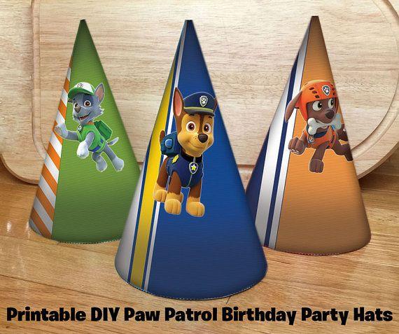 Questi cappelli di partito Paw Patrol fai da te sono la cosa giusta per rendere la vostra festa di compleanno Paw Patrol ancora più incredibile!