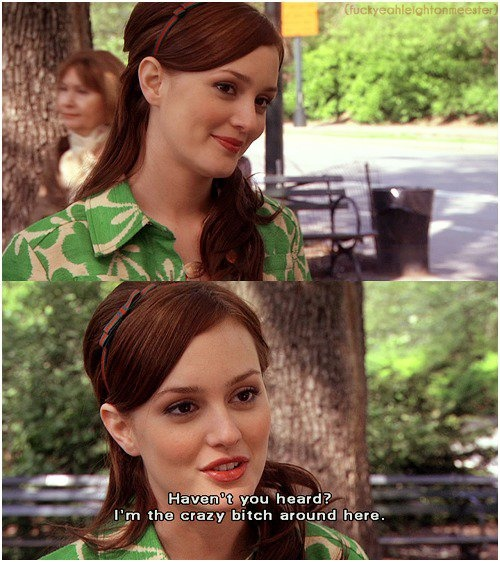 Blair you know yourself more than anyone else don't you?!;))