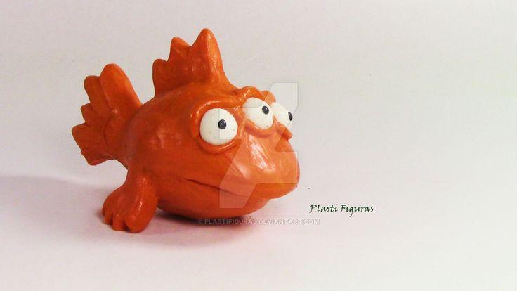 Pez Blinky de Plastilina (Plasticine) by PlastiFiguras.deviantart.com on…