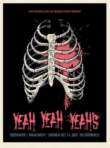 Yeah Yeah Yeahs Concert Poster by Methane Studios (SOLD OUT)