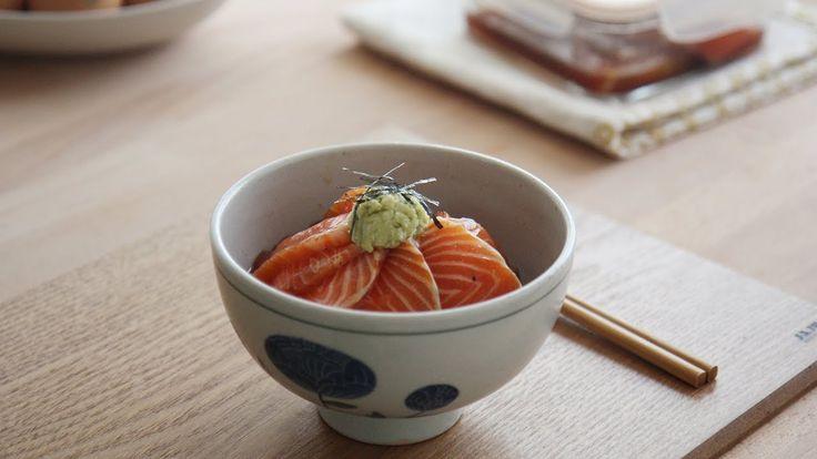 Marinated Salmon Rice Bowl | Honeykki 꿀키 - YouTube
