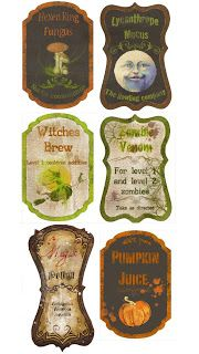 Dancing Barefoot in Sand and Snow: My Personal Compendium of Free Halloween Printable Labels