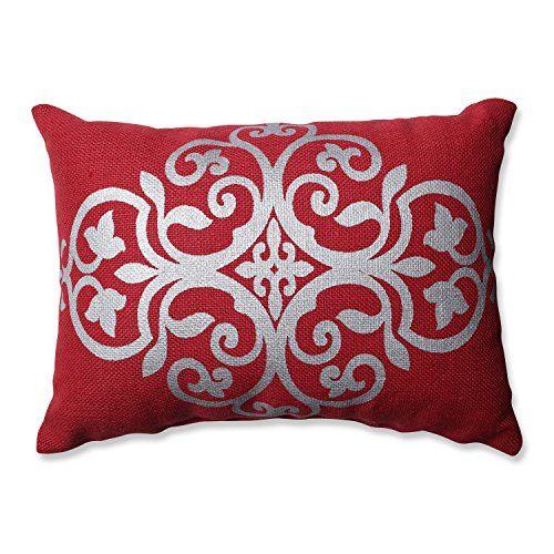 Pillow Perfect Silver Geometric Burlap Rectangular Throw…