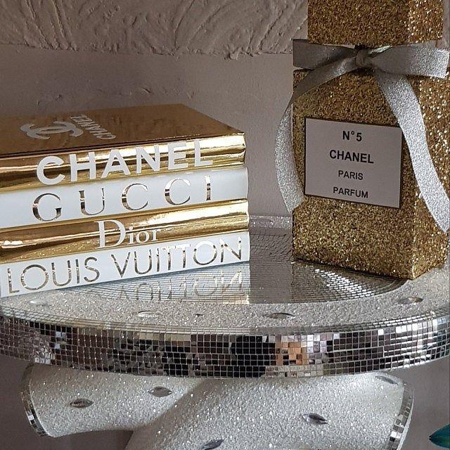 1 Designer Inspired Blank Book Black White Home Decor Coffee Table Book Chanel Inspired Room Inspiration Decor