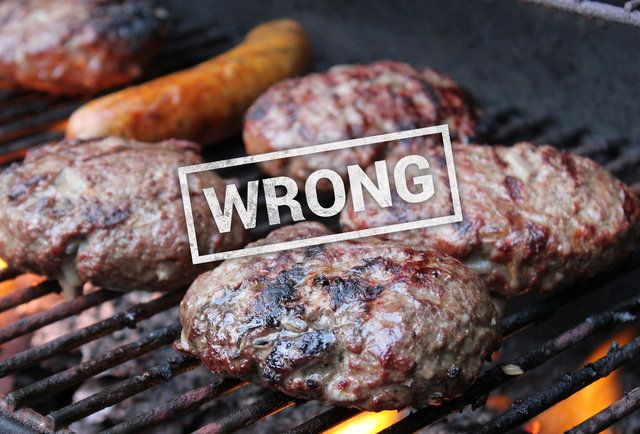 You're going to be in trouble if you have a high-fat burger on a very hot grill.