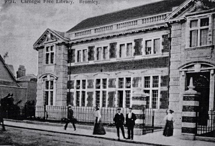 The old library Bromley, on the site which is now Churchill Theatre