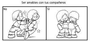 Dibujos de convivencia escolar para colorear - Imagui
