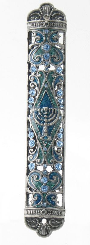 Sparkling Menorah Mezuzah - Judaism.com If you want to know what to get me as a gift...this is top on my list.