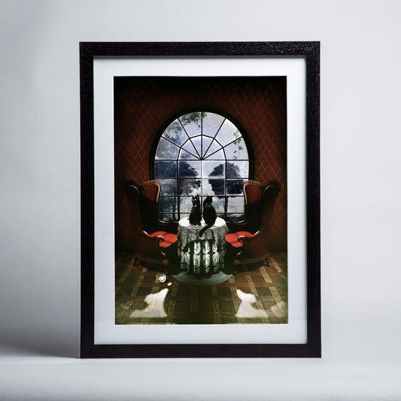 Ali Gulec - Room Skull - Framed print