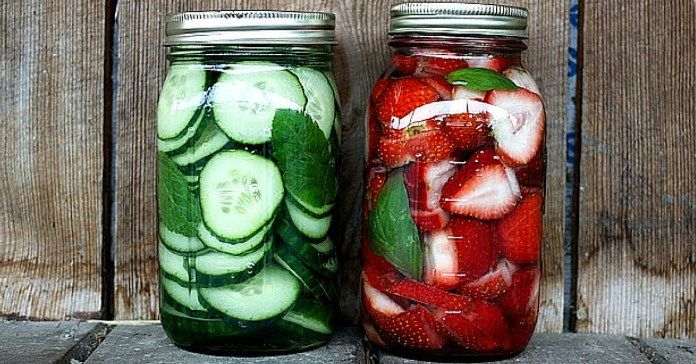 Recept na vodku s příchutí jahod a bazalky