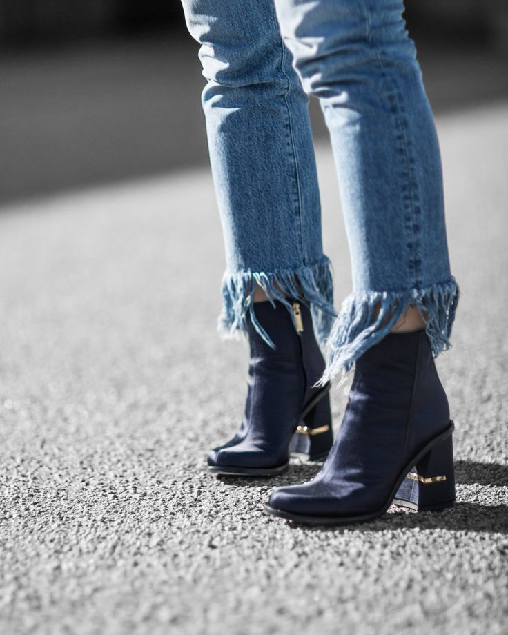 Real Denim Trends You Need to Know Right Now - Beige Renegade - Tibi Nora Boots - 3x1 frayed jeans