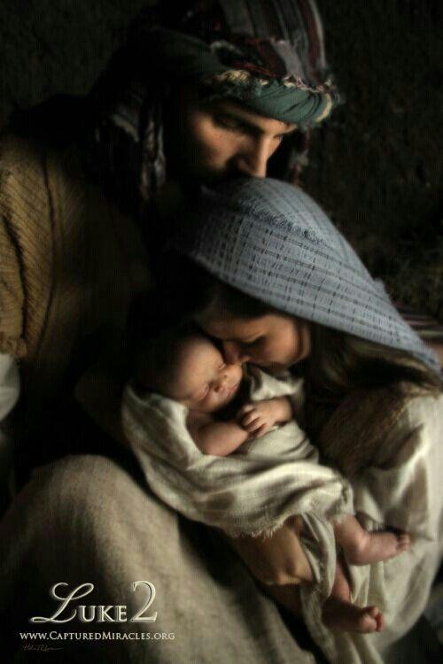 Baby Jesus is born.