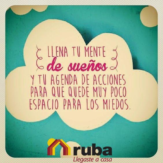 Llenate de todo lo positivo y logra tus metas! Si dentro de tus metas esta tener la casa de tus sueños con Ruba lo puedes lograr! #VidaRuba