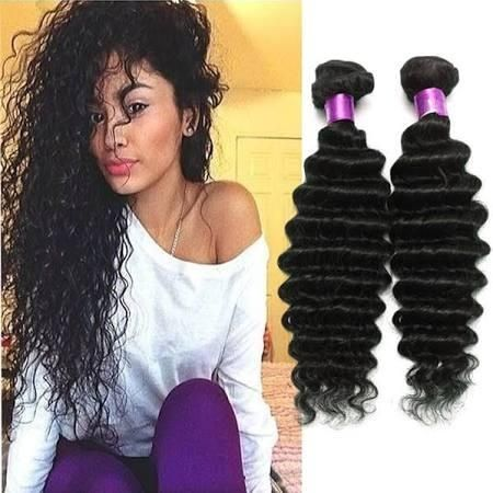 Wholesale-Brazilian Virgin Hair Water Wave Brazilian Hair Deep Wave Weave Bundles Wet And Wavy Virgin Brazilian Curly 3Pcs Lot Human Hair Ex - Brought to you by Avarsha.com