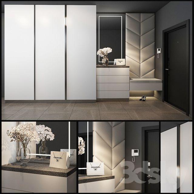 3d Models Wardrobe Display Cabinets Composition In The Hallway 36 In 2020 Home Entrance Decor Wardrobe Door Designs Bedroom Closet Design