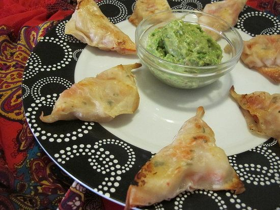 Lobster and shrimp ceviche wontons.: Recipes Group, Wontons Recipes, Ceviche Wontons, Healthy Eating, Lobsters, Fitsugar Readers, Shrimp Ceviche, Super Healthy, Readers Recipes