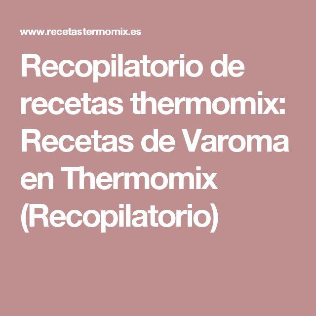 Recopilatorio de recetas thermomix: Recetas de Varoma en Thermomix (Recopilatorio)