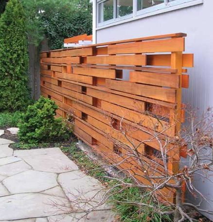 Random board fence decorative and functional use all for Decorative fence ideas