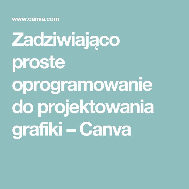 Zadziwiająco proste oprogramowanie do projektowania grafiki – Canva
