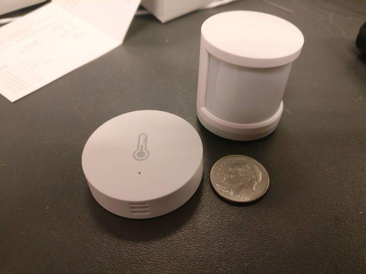 Xiaomi mi motion detector and temp/humidity sensor.