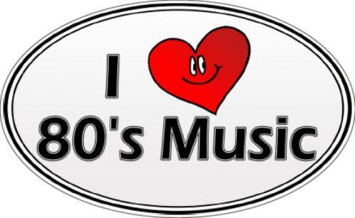 """Sticker - Autocollant """"I love the 80's music"""""""