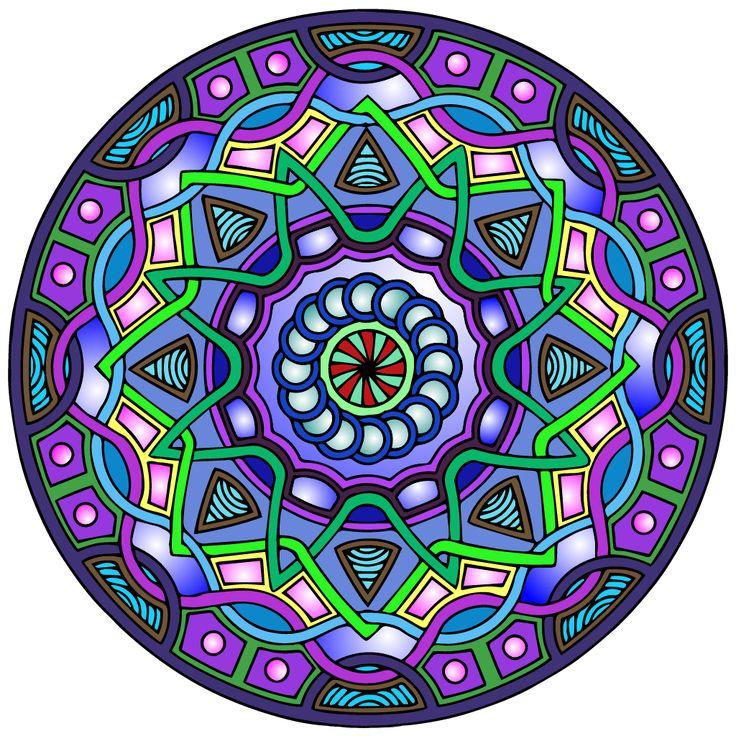 Mandalas Ideas: Mandalas tonos morados