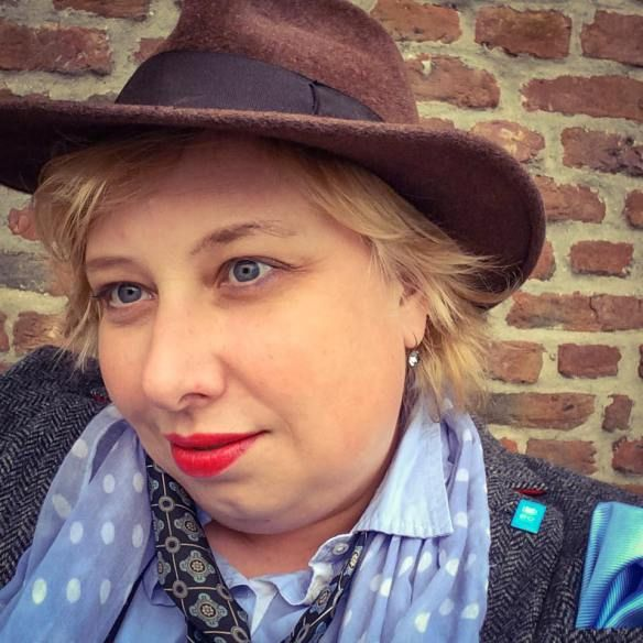 German Curves: One of the Boys – Dandy Style | Miss Kittenheel Vintage Retro Tweed 1950s Fedora Trilby hat