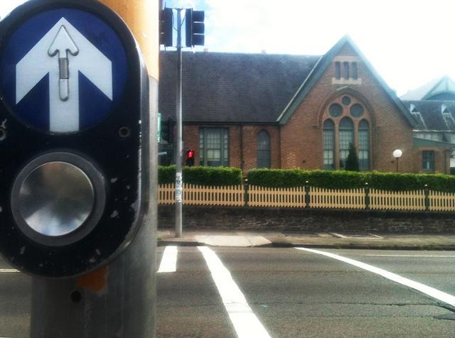 Stop   Look   Listen   Think.  Petersham TAFE, West Street campus. Photo: Felix Rivera