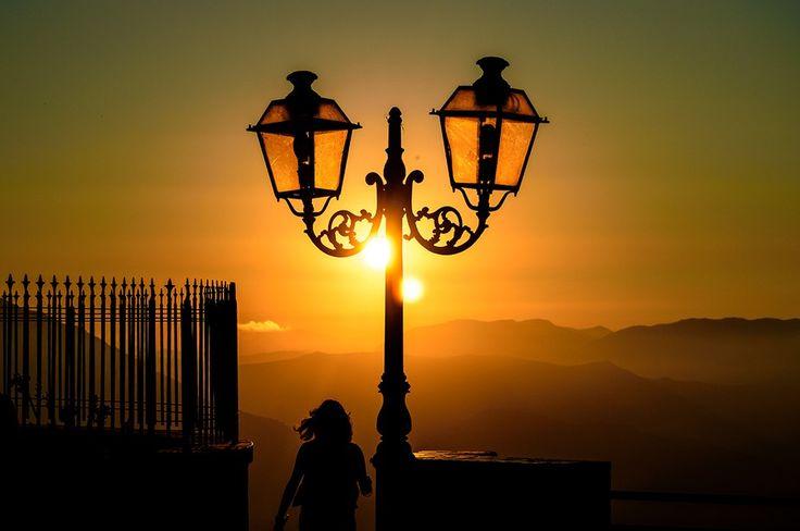 Tramonto lampione