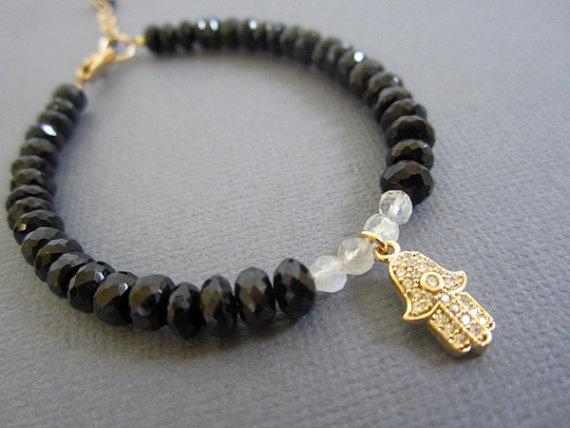 Hamsa Bracelet Hamsa Jewelry evil eye pendant by Lotus411 on Etsy, $64.00