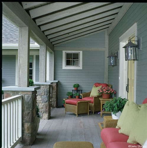 Farmers porch by Yankee Barn Homes, via Flickr