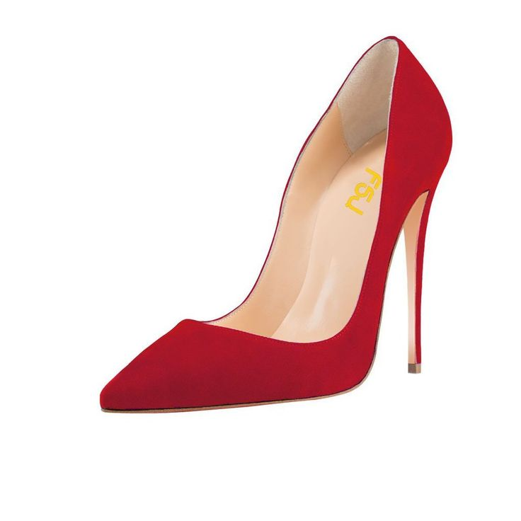 "FSJ Women Pointed Toe Pumps 12CM High Heel Stiletto Suede Prom Shoes Red Size 7. The One and Only, as A Dear Gift for Valentine's Day. Use Code ""TOMYLOVE"" to get FREE SHIPPING at Checkout. High-heels measurement: approx. 12CM(4.75inches""). Forefront of fashion & personalized design and hand crafted combination. The classic stiletto heels pumps just prepare for formal occasions, chic suede leather shoes are suitable for homecoming, party, wedding, daily dressing, etc. Customers are welcome…"