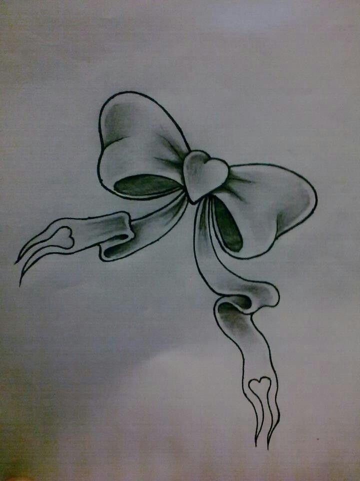 Bow tattoo design.