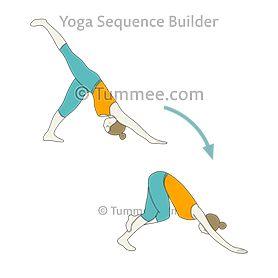 downward facing dog pose variation eagle legs flow yoga