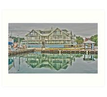 Reflections at Hobsons Bay - Williamstown, Victoria Art Print