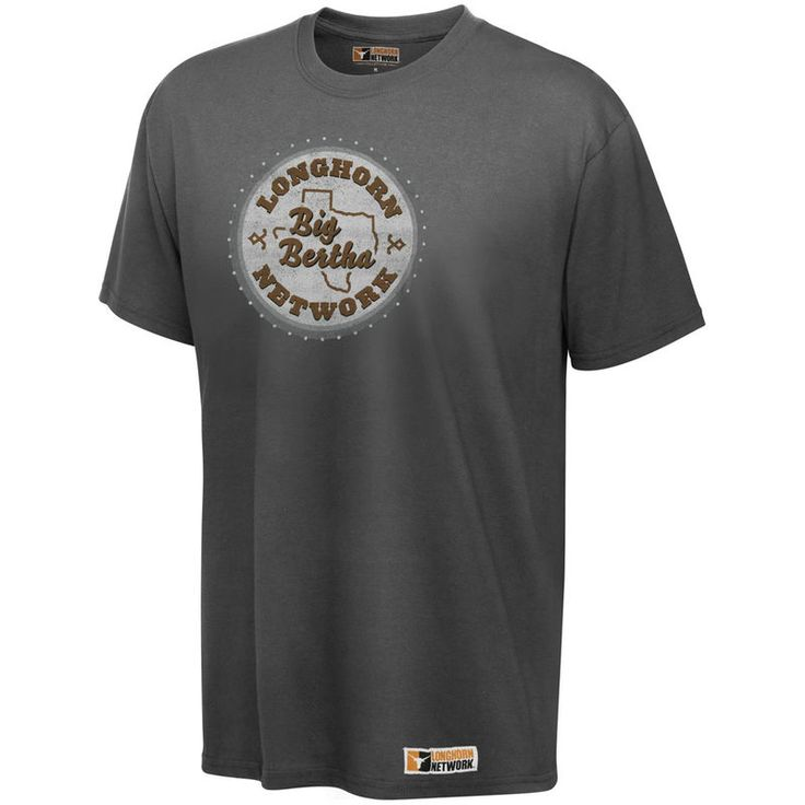 Texas Longhorns Charcoal Longhorn Network Big Bertha T-Shirt