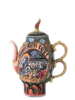 Richard Stratton, Friends & Family Teapot, 2009