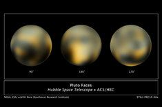 Hubble's discovery of two new moons of Pluto, mapping seasonal changes to Pluto's surface. Hubble discovery that Eris is 27 percent more massive than Pluto helped demote Pluto to dwarf planet status.