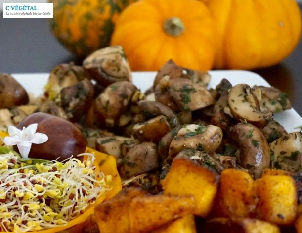Champignons sautés à l'ail et au persil // Stir-fried mushrooms with garlic and parsley - C'Végétal